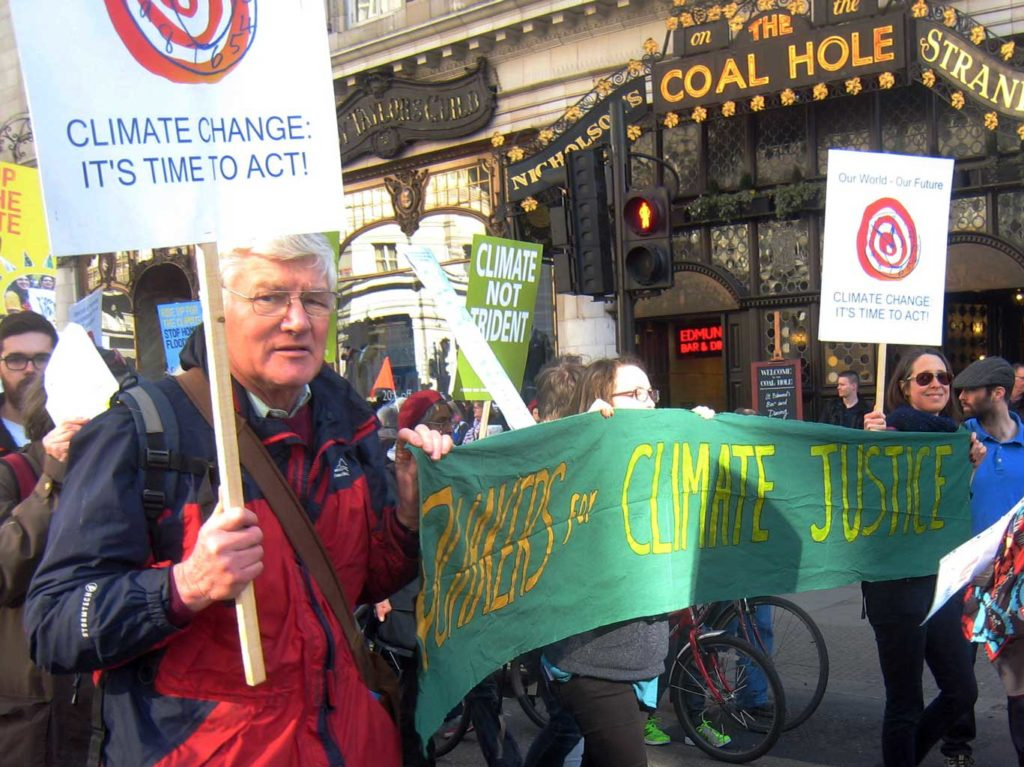 Cotteridge presence in London climate demo July-2015