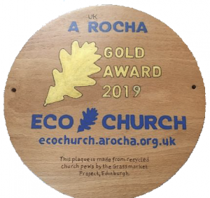 Eco Church Gold Plaque
